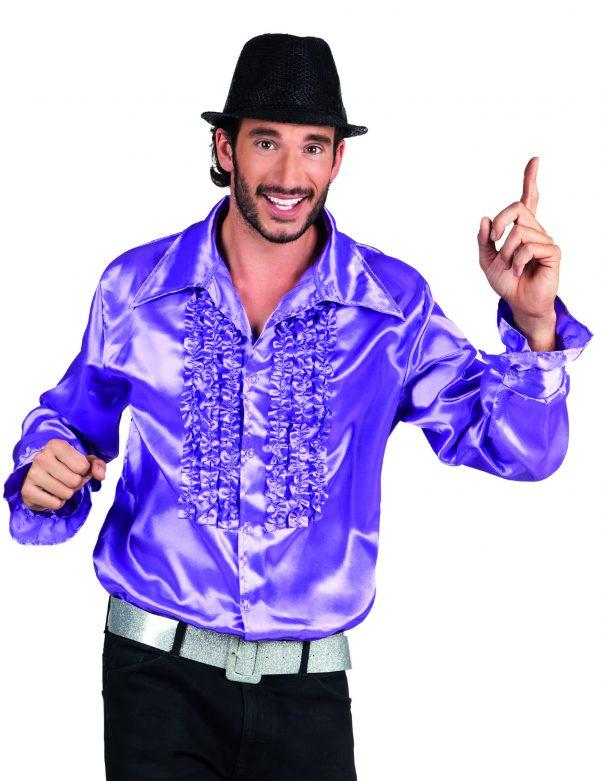 Photo du produit Chemise disco violette homme