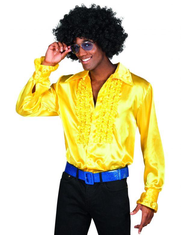 Photo du produit Chemise disco homme jaune