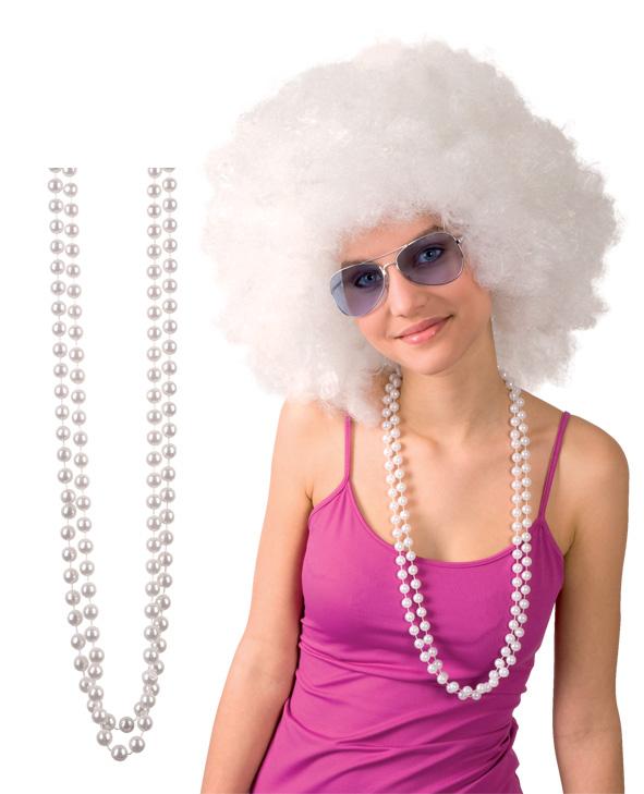 Photo du produit 2 Colliers en perles blanches adulte