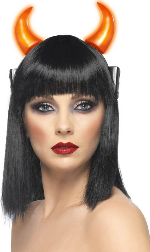 Photo du produit Cornes lumineuses diable adulte Halloween