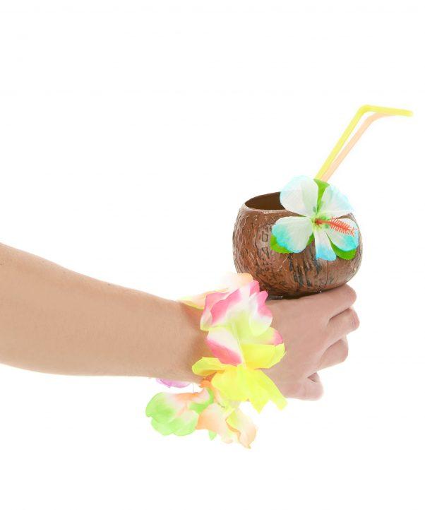 Photo du produit Coupe Hawaï noix de coco fleur bleue