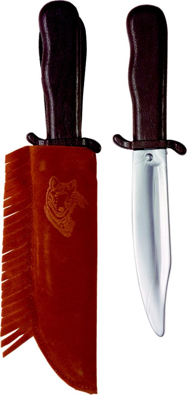 Photo du produit Couteau indien en plastique avec étui