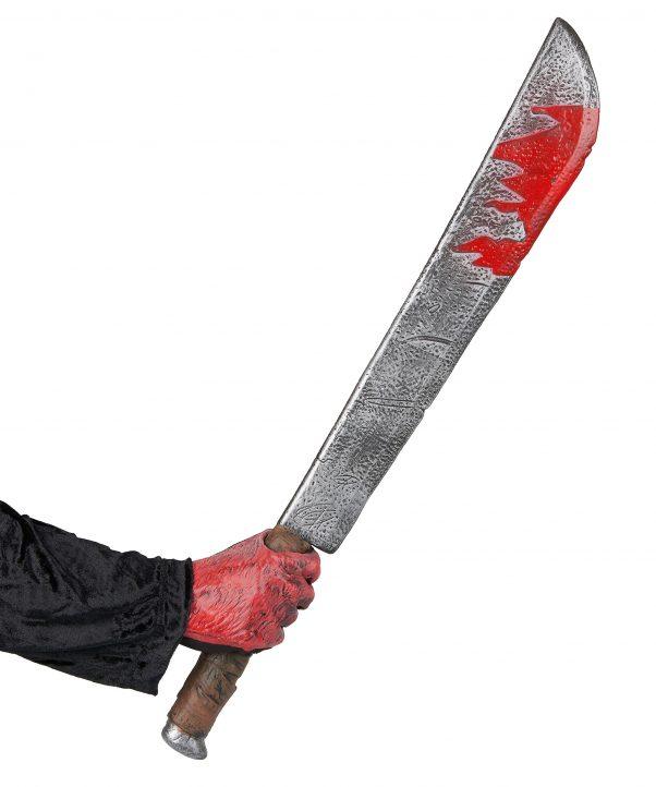 Photo du produit Couteau ensanglanté Halloween en plastique