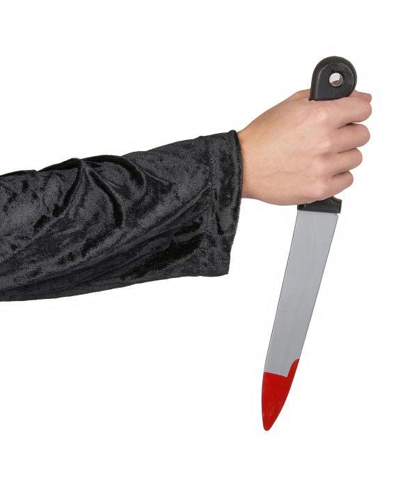 Photo du produit Couteau plastique ensanglanté Halloween