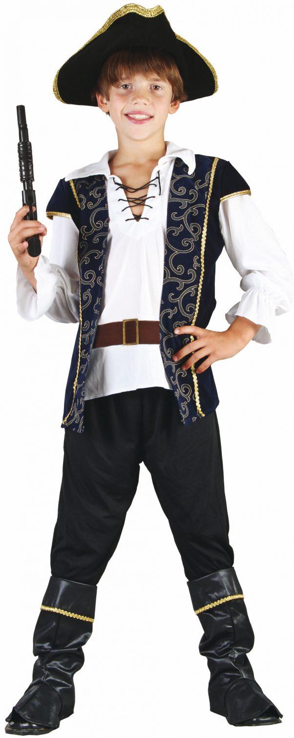 Photo du produit Déguisement pirate bleu et blanc garçon