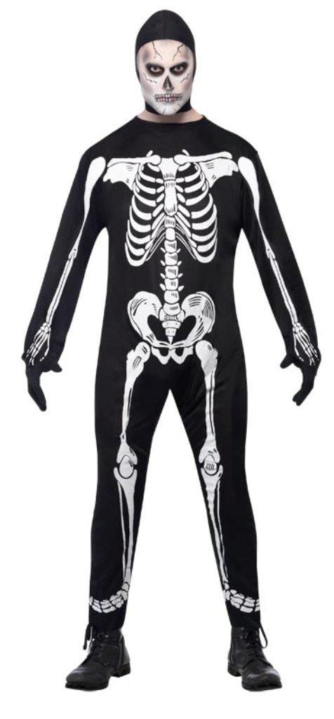 Photo du produit Déguisement squelettehomme avec cagoule Halloween
