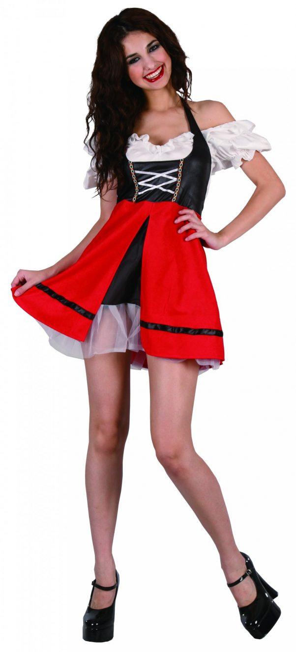 Photo du produit Déguisement bavaroise noire et rouge femme