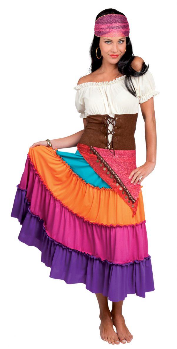 Photo du produit Déguisement bohémienne multicolore femme
