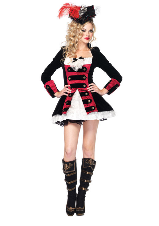 Photo du produit Déguisement capitaine pirate femme sexy