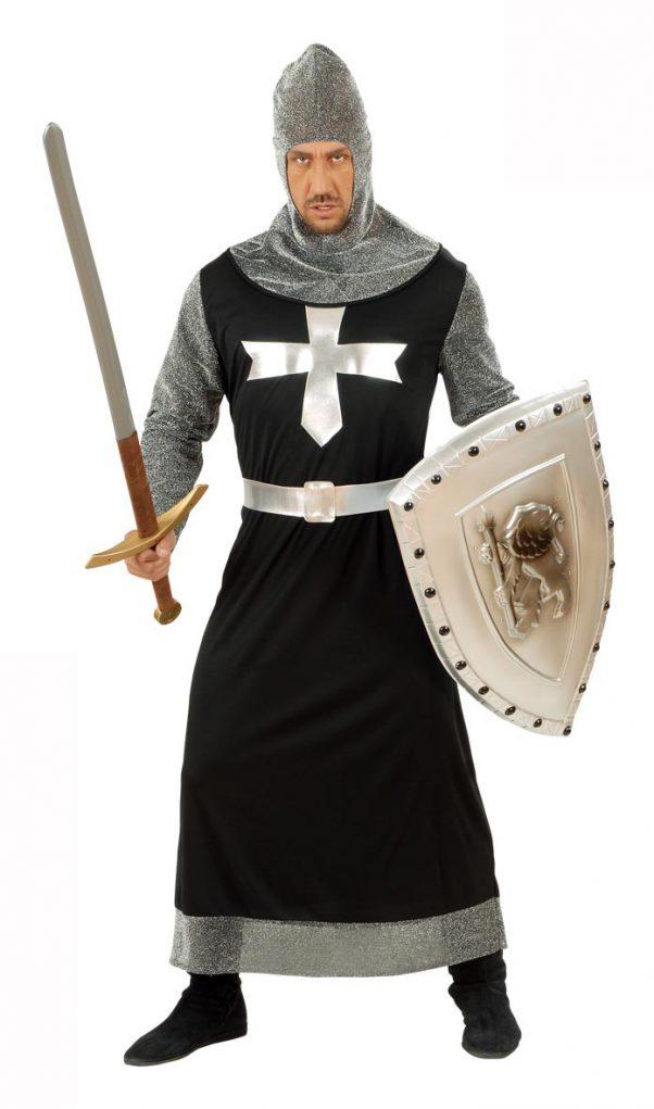 Photo du produit Déguisement chevalier médiéval noir et argent homme