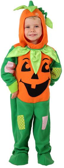 Photo du produit Déguisement citrouille orange et vert enfant Halloween