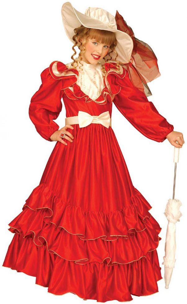 Photo du produit Déguisement marquise rouge fille