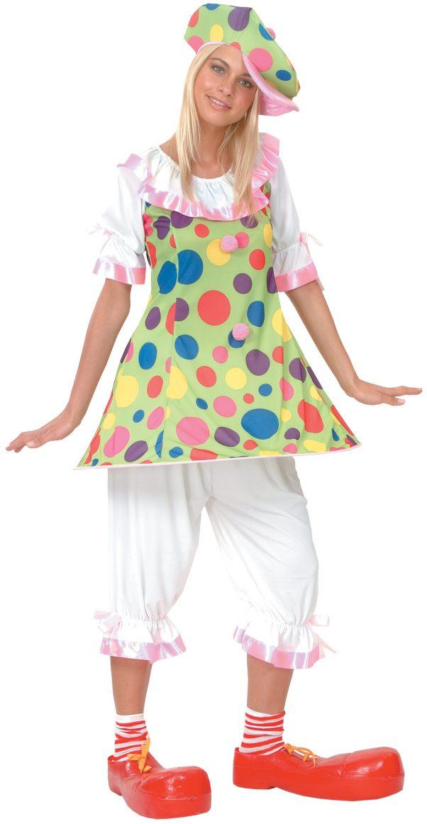 Photo du produit Déguisement clown à pois colorés femme