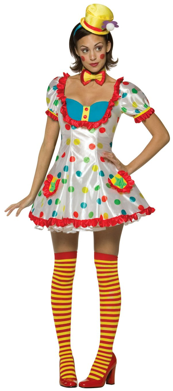 Photo du produit Déguisement clown blanc à pois femme