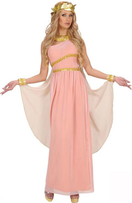Photo du produit Déguisement déesse grecque rose femme