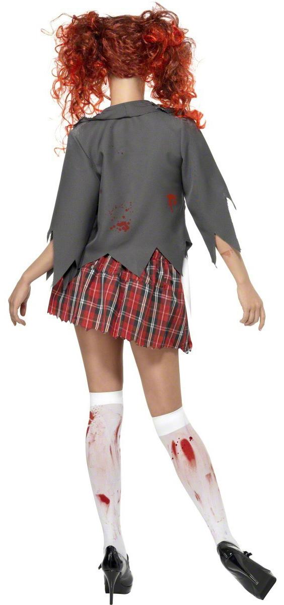Photo du produit Déguisement écolière zombie Halloween femme