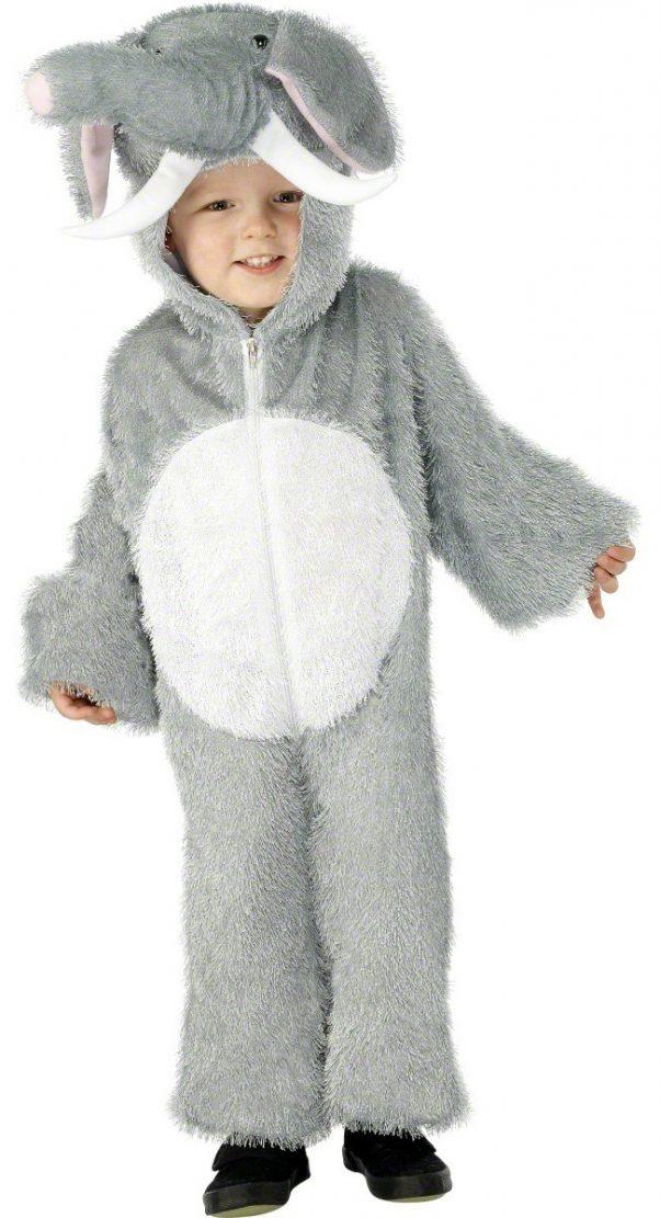 Photo du produit Déguisement éléphant gris et blanc enfant