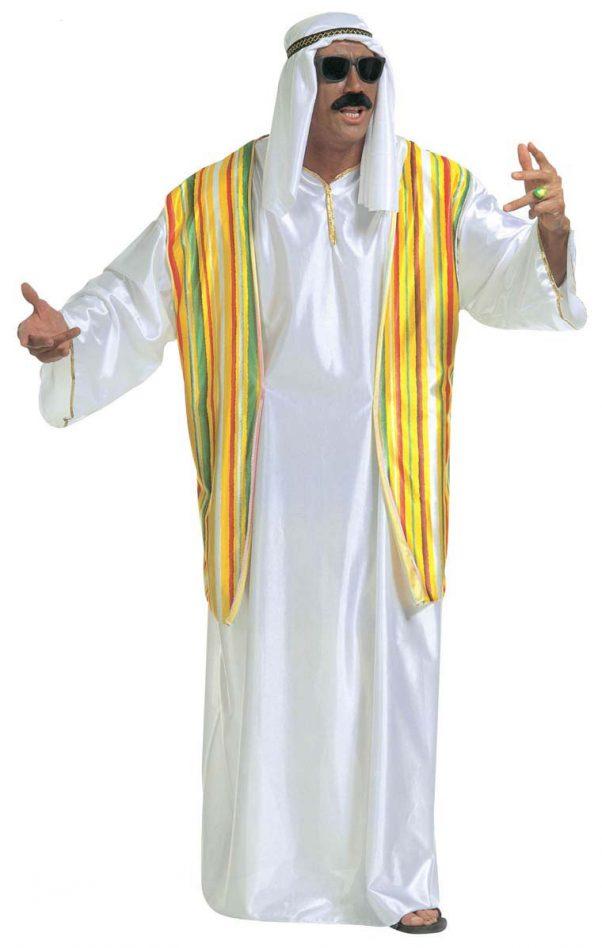 Photo du produit Déguisement cheikh arabe coloré homme