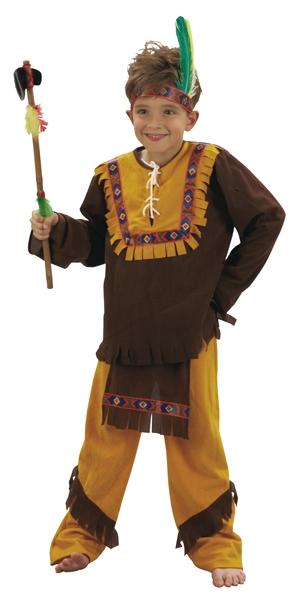 Photo du produit Déguisement indien marron et ocre garçon