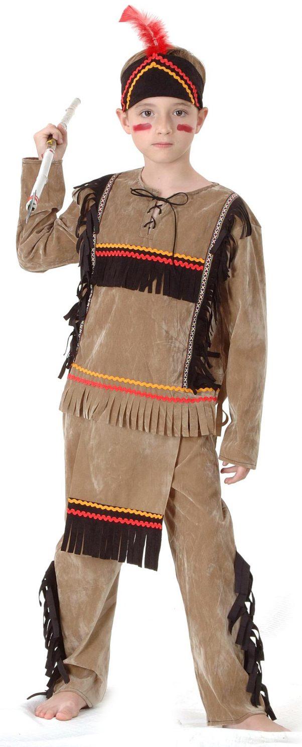 Photo du produit Déguisement indien marron clair garçon
