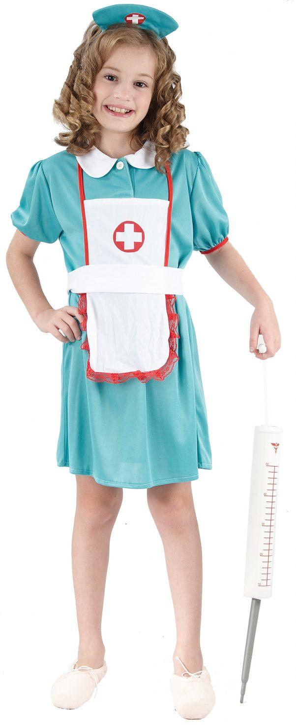 Photo du produit Déguisement infirmière vert fille