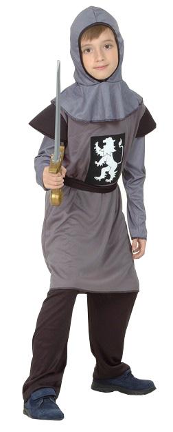 Photo du produit Déguisement chevalier médiéval gris garçon