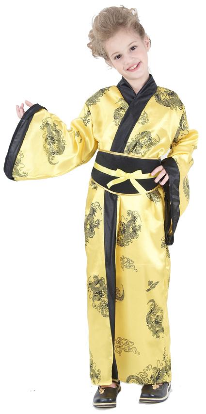 Photo du produit Déguisement chinoise jaune fille
