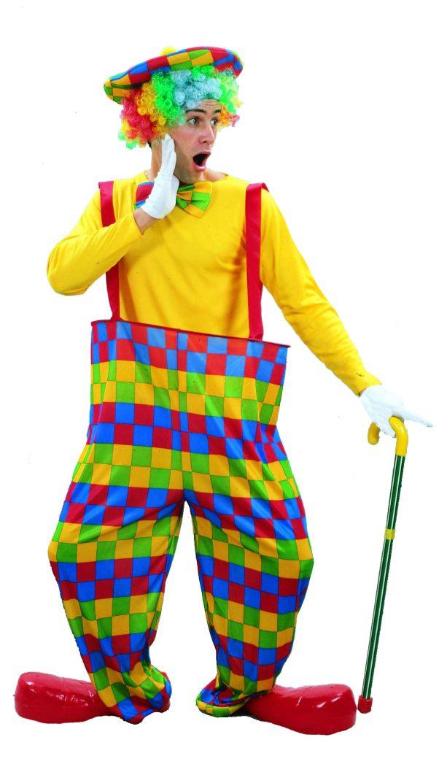 Photo du produit Déguisement clown à carreaux colorés homme