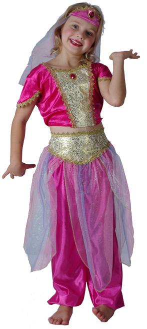 Photo du produit Déguisement danseuse orientale rose fille