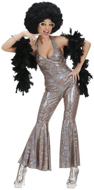Photo du produit Déguisement disco argent brillant femme