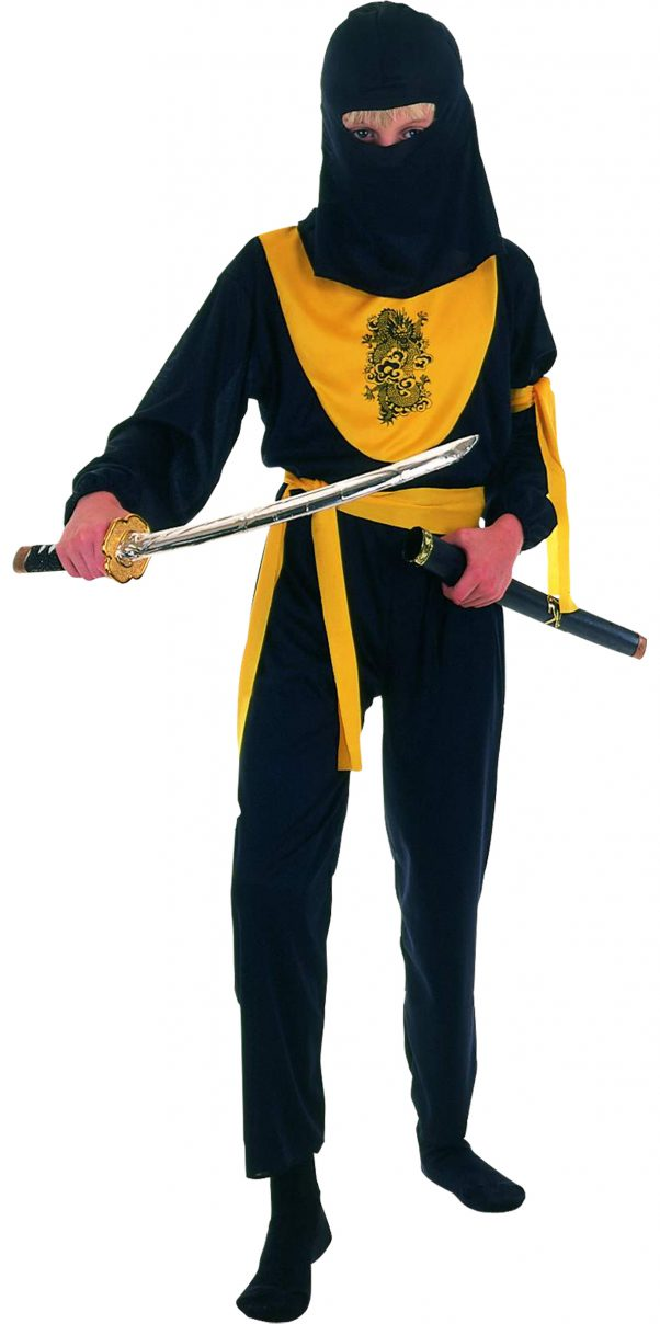 Photo du produit Déguisement ninja jaune et noir garçon