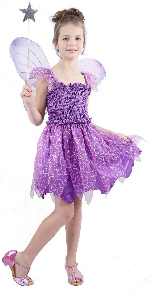 Photo du produit Déguisement fée violette fille