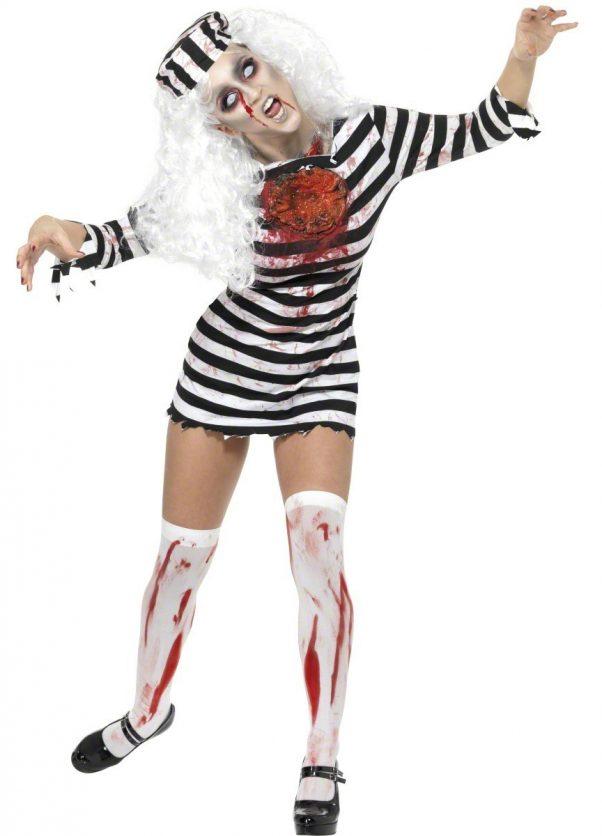 Photo du produit Déguisement zombie prisonnière femme Halloween