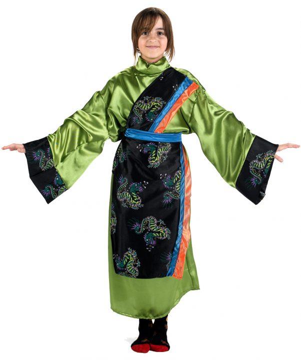 Photo du produit Déguisement japonaise verte fille