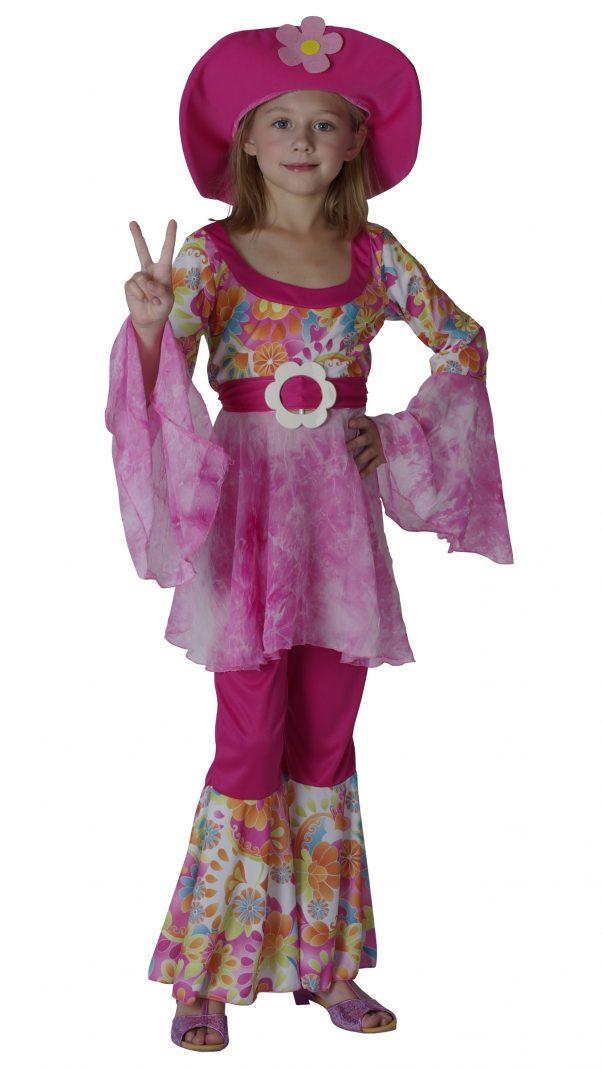 Photo du produit Déguisement hippie rose fille
