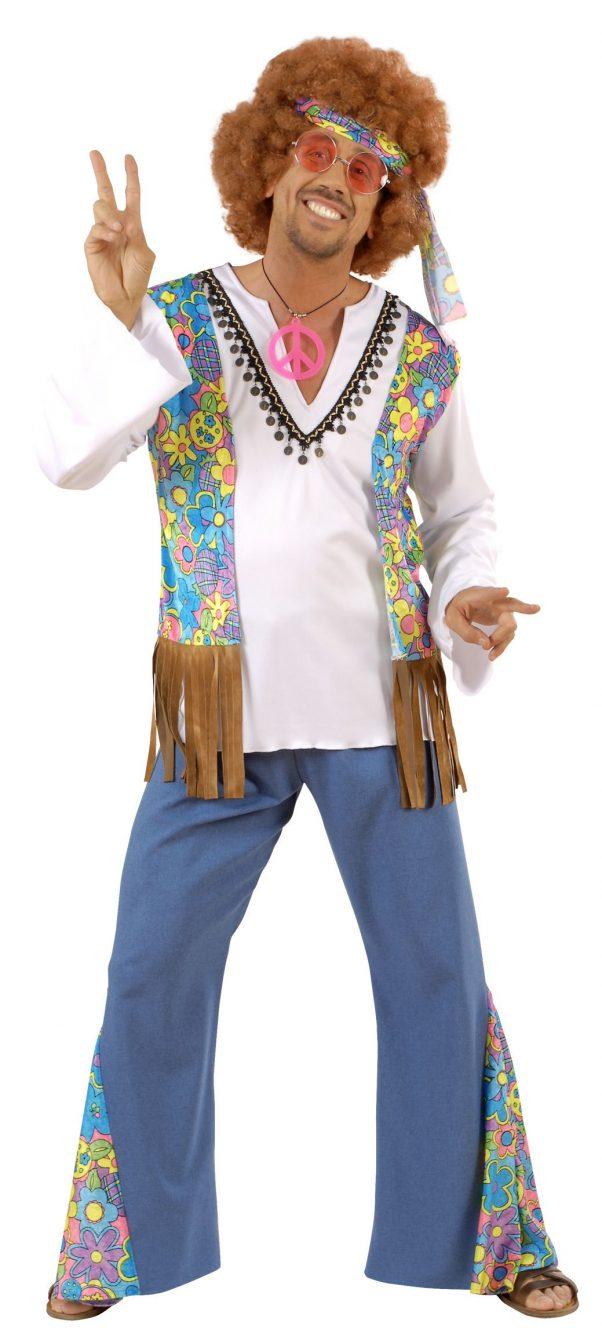 Photo du produit Déguisement hippie motif fleurs homme