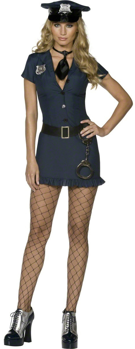 Photo du produit Déguisement policière sexy bleu marine femme