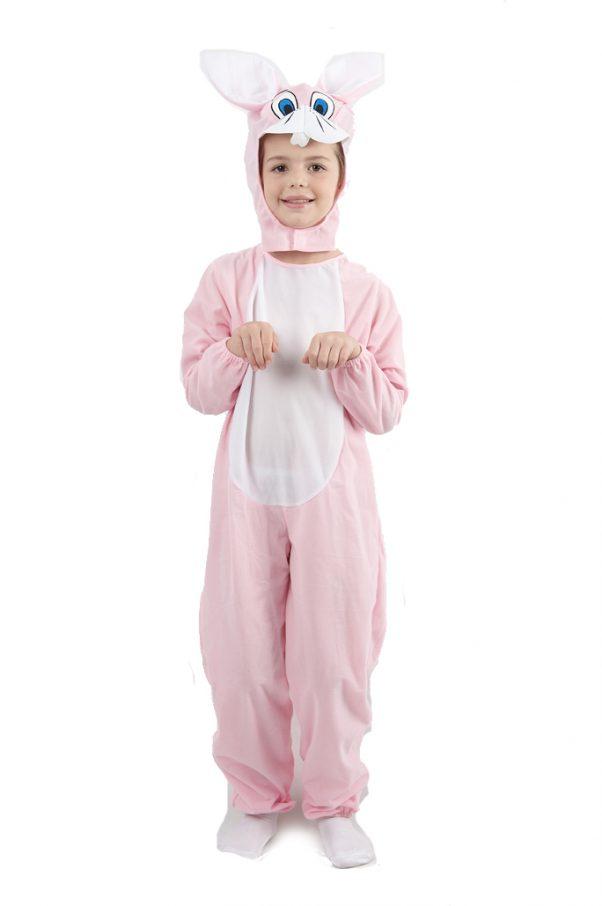 Photo du produit Déguisement lapin combinaison rose enfant
