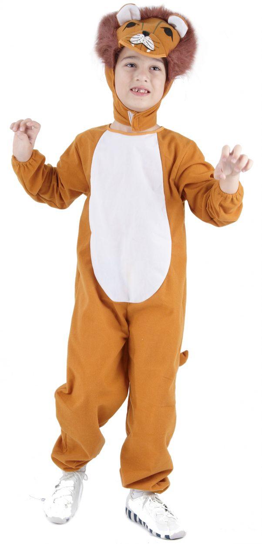 Photo du produit Déguisement lion marron et blanc enfant