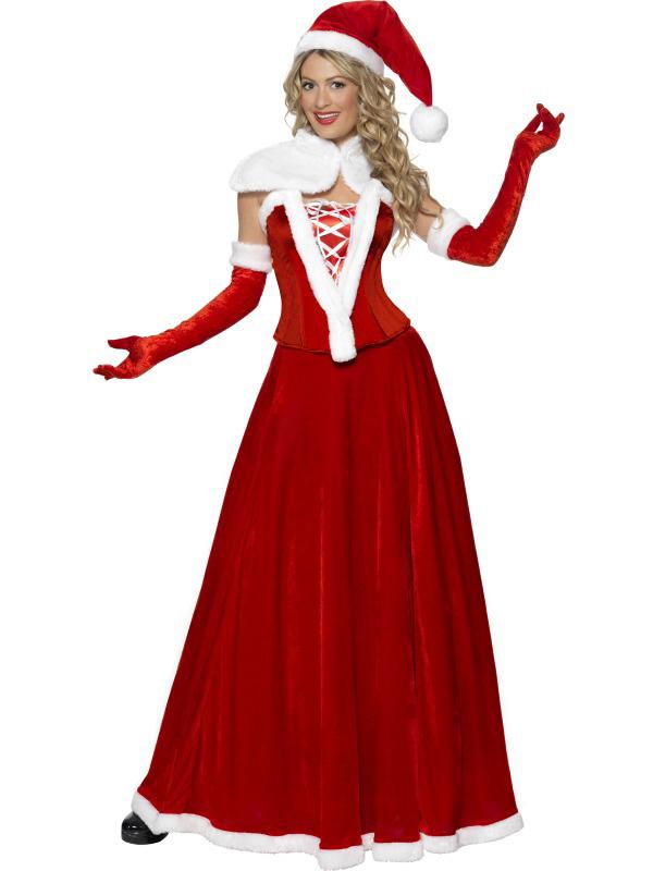 Photo du produit Déguisement Mère Noël luxe robe longue femme