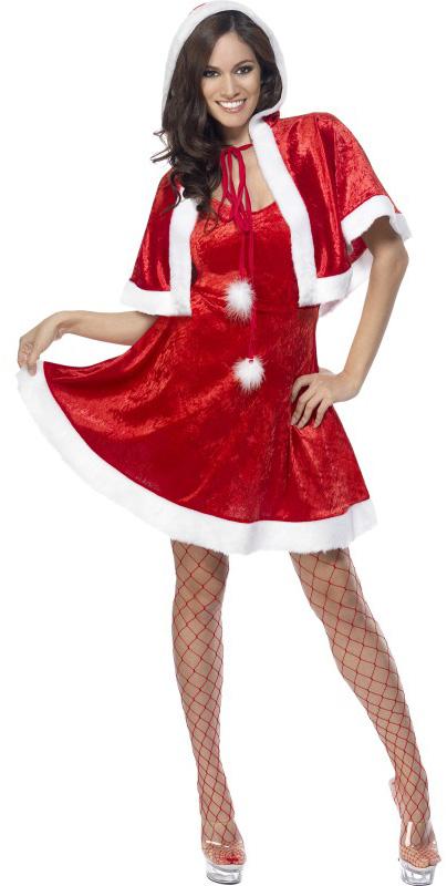 Photo du produit Déguisement mère Noël sexy à capuche femme