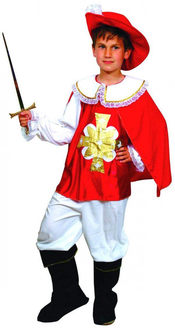 Photo du produit Déguisement mousquetaire rouge et blanc garçon