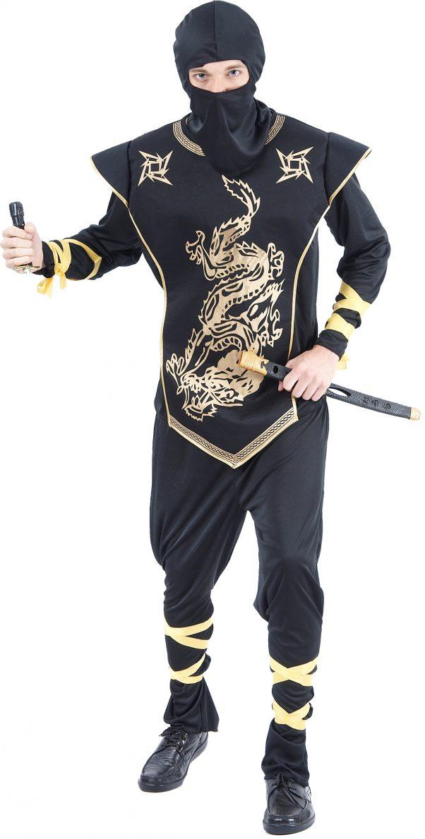 Photo du produit Déguisement ninja dragons dorés homme