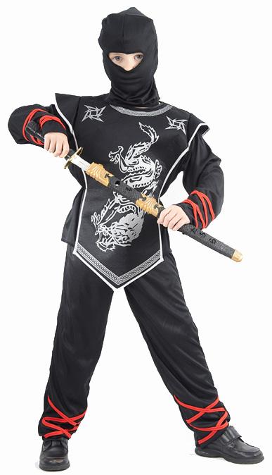 Photo du produit Déguisement ninja dragon argenté garçon