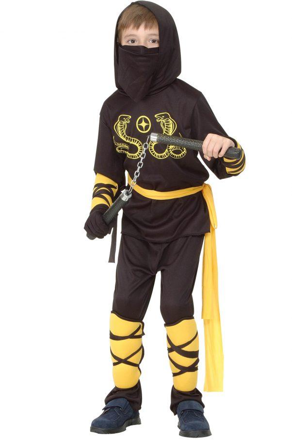 Photo du produit Déguisement ninja noir et jaune garçon
