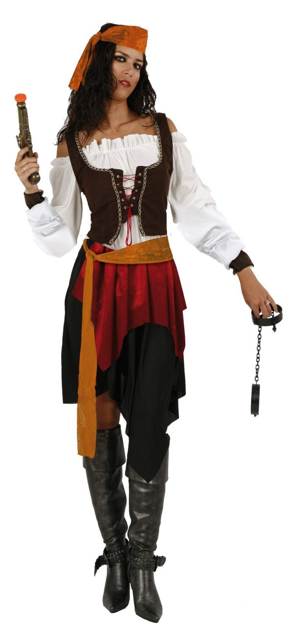 Photo du produit Déguisement pirate avec gilet marron femme