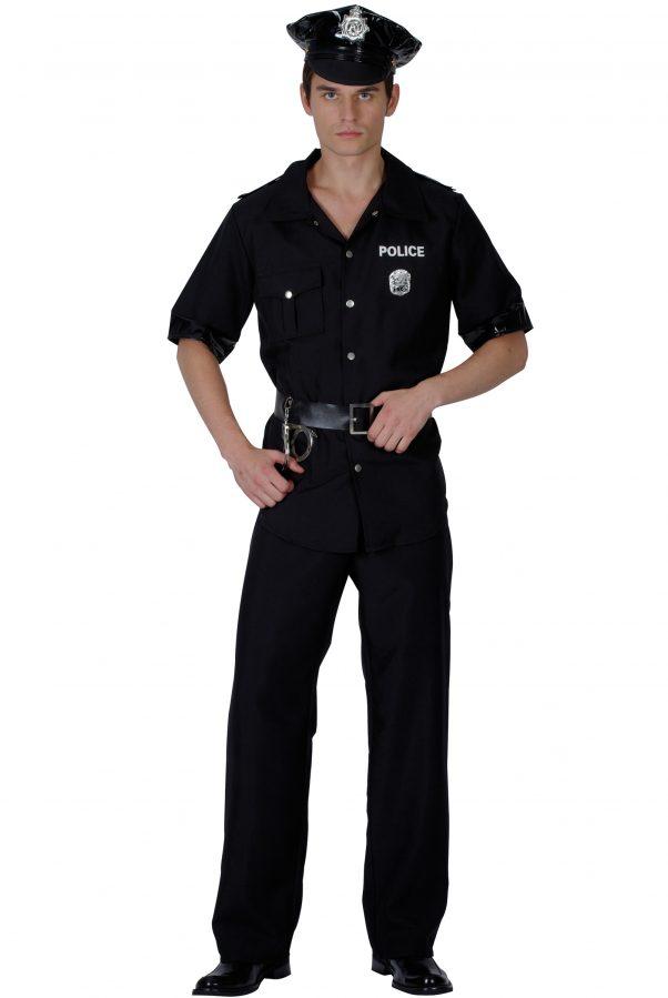 Photo du produit Déguisement policier noir homme