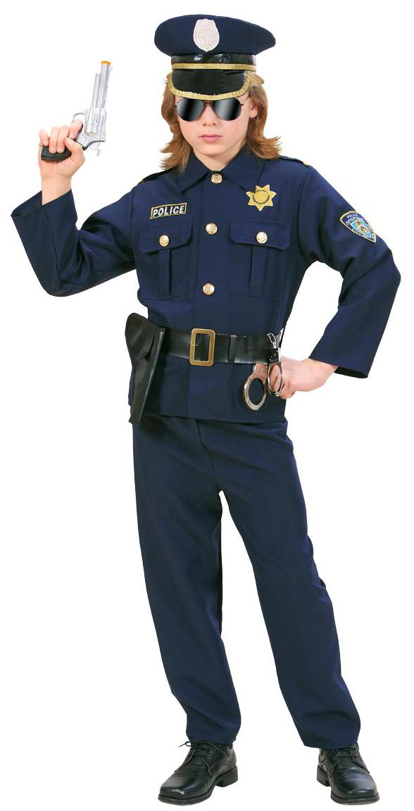 Photo du produit Déguisement policier bleu marine garçon