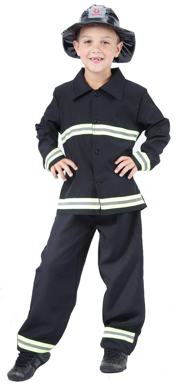 Photo du produit Déguisement pompier jaune et noir garçon