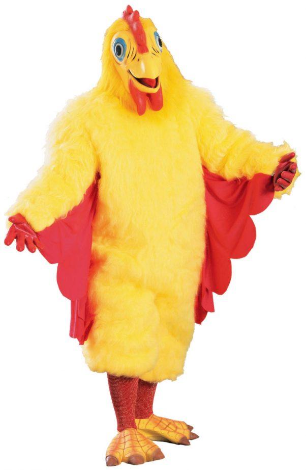 Photo du produit Déguisement mascotte poulet jaune adulte